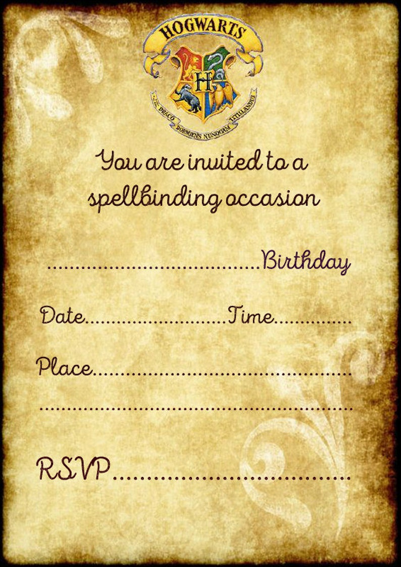Harry Potter Hogwarts Birthday Party Invitations X 10 C W Envelopes