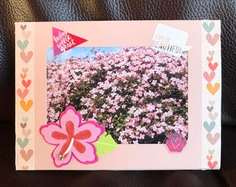 Pretty Pink Clematis Flowers, Photo Fridge Magnet