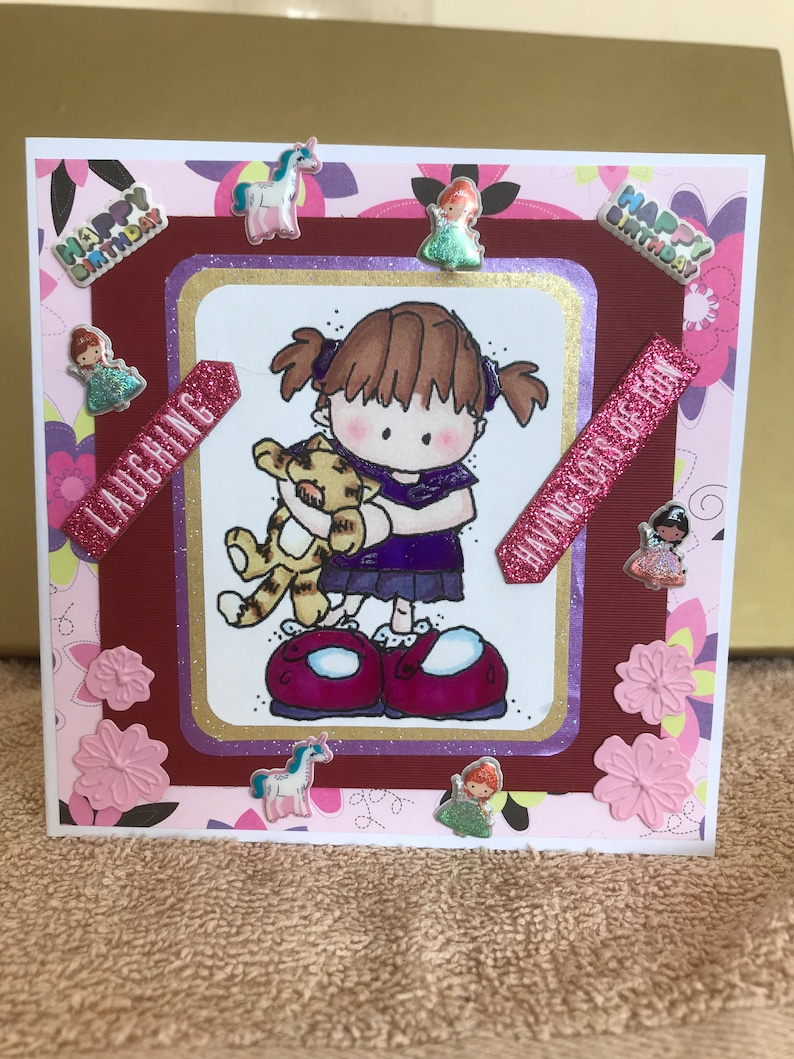 Happy Birthday Greeting Card Young Girl Daughter Niece Etsy
