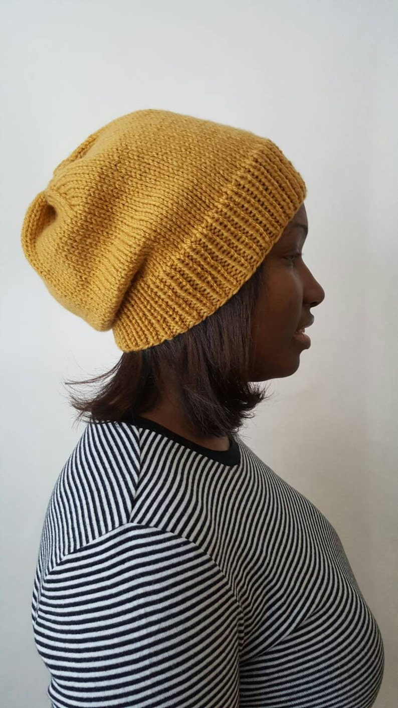 6db5b228abb75 The Leslie Slouchy Beanie Knit Hat in Sungold