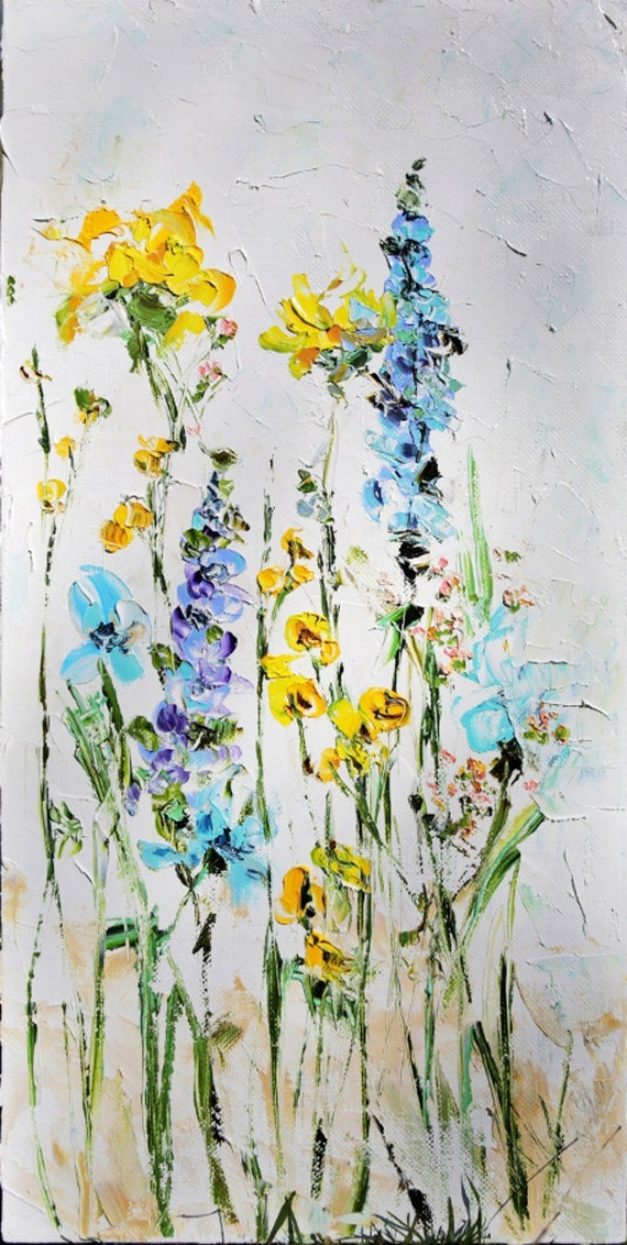 Palette Knife Painting Oil Painting Original Abstract Flowers On