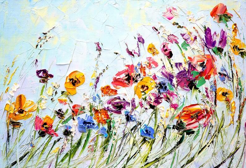 Fabulous Olieverf schilderij bloemen Paletmes schilderen op Canvas | Etsy @NR47