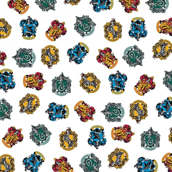 HARRY POTTER COTTON FABRIC  RAVENCLAW HOUSE CREST CELESTIAL CAMELOT  BY THE YARD
