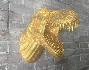 ANY COLOR or GOLD T-Rex Dinosaur Head Wall Mount // Tyrannosaurus // Boys Room // Unique Birthday Gifts // Man Cave // Jurassic Park