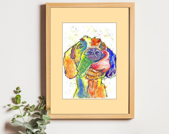 GREAT DANE PRINT of Original Watercolour Dog Painting Puppy Art Gift Illustration Portrait Wall Hanging Pet Memory by Josie P. JaPeyArt