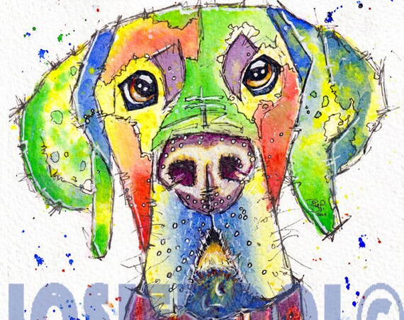 GREAT DANE PRINT Watercolour Dog Painting Puppy Art Gift Illustration Portrait Wall Hanging Pet Memory by Josie P. JaPeyArtnStuff