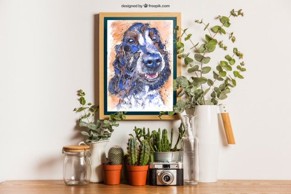 COCKER SPANIEL PRINT of Original Watercolour Dog Painting Puppy Art Gift Illustration Portrait Wall Hanging Pet Memory by Josie P. JaPeyArt