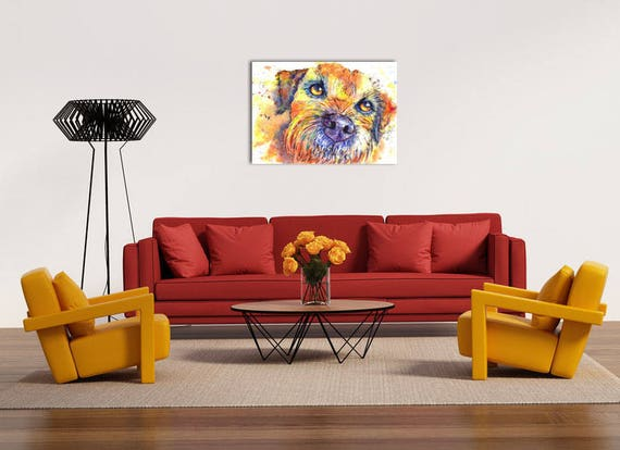 Border Terrier POSTER Print  Dog from Original Watercolour Watercolor Painting by Josie P. UK ONLY