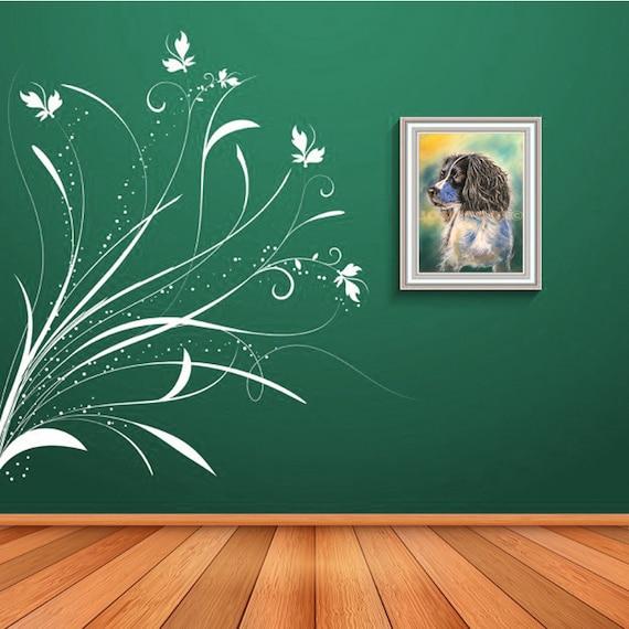 SPRINGER SPANIEL PRINT of Original Pastel Dog Painting Puppy Art Gift Illustration Portrait Wall Hanging Pet Memory by Josie P JaPeyArt