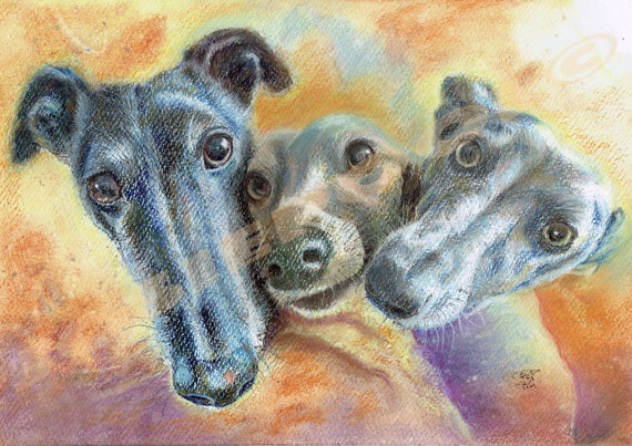 CUSTOM Pet Portraits. Pastel Drawing Painting. FREE Post. UK Only. Dog Lovers. Gift. Dog Illustration. Wall-Art From your photo. Pet Art.