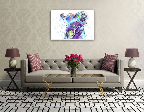 Weimaraner Poster Print from Original Watercolour Dog Painting by Josie P. UK ONLY