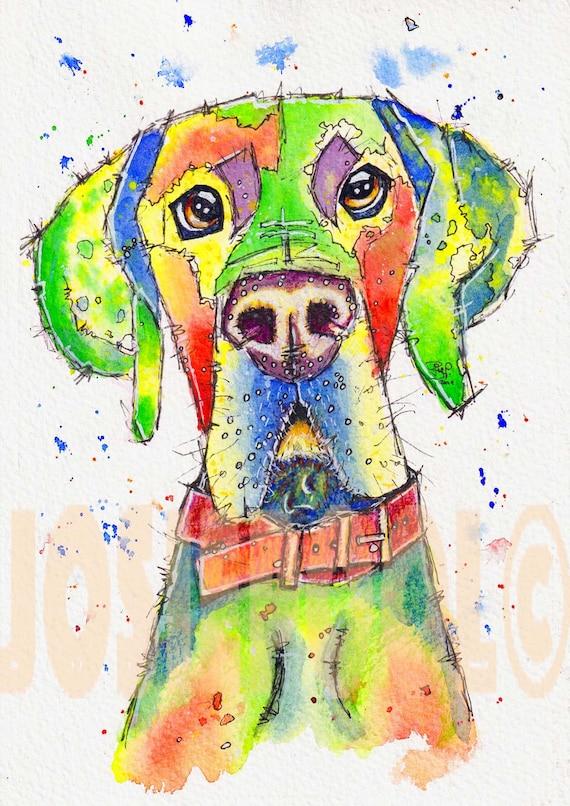 GREAT DANE Dog PRINT from Original Art by Josie P ORIGINAL WATERCOLOUR Painting