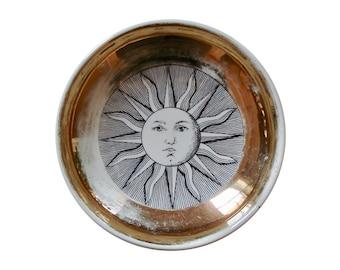 Original Italian Fornasetti Mid-Century Porcelain Sun Bowl