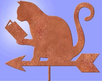 Animals Reading: Beaver, Bunny, Cat, Dog, Pig Reading weather vanes for little libraries.