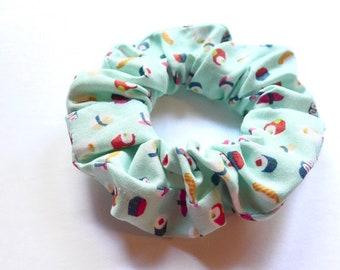SUSHI scrunchie, kawaii scrunchy, chouchou cheveux, foodie gift, sushi lover gift, novelty scrunchie, cotton scrunchie