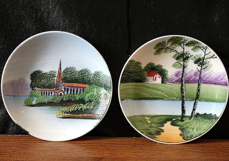 Ceramic Decorative Plates For The Wall Hanging Hand Painted Etsy