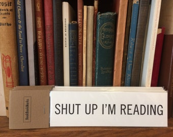 BookBookMarks - Set of 6 Letterpress Printed Bookmarks about reading & books