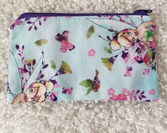 Tinkerbell Zipper Pouch or Bag For Makeup or Multipurpose.