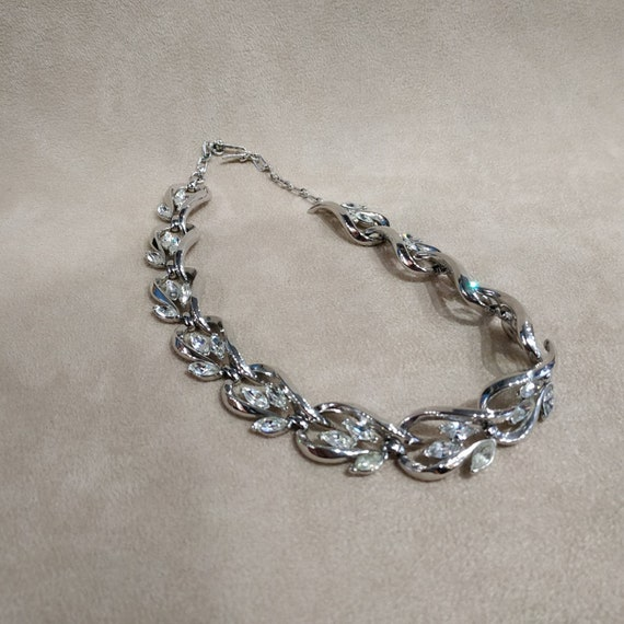 Trifari Silver Necklace Vintage - image 7