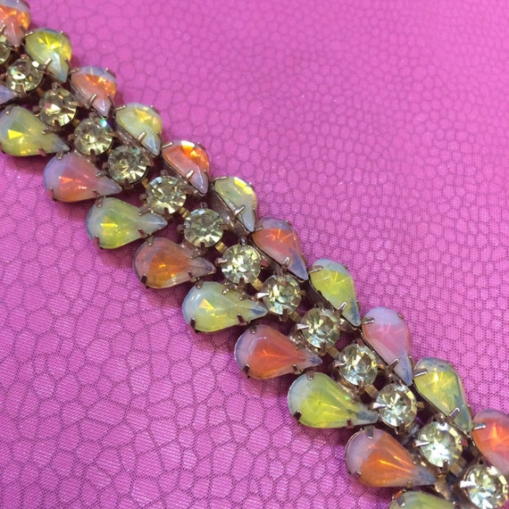 Vintage Opal Glass bracelet by Kramer