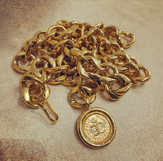 Chanel Belt Necklace Gold Plated Chain