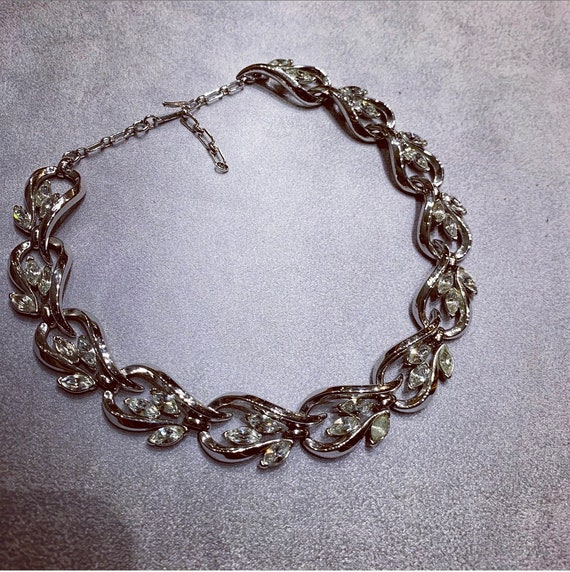Trifari Silver Necklace Vintage