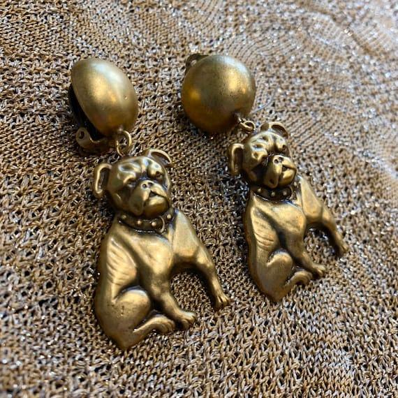 Bulldog earrings by Joseff of Hollywood