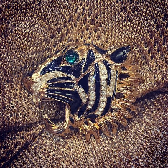 Tiger Brooch - image 1