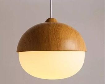 Wood pendant light etsy popular items for wood pendant light aloadofball Gallery