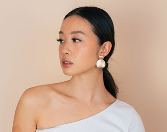 Nottingham Earrings - Statement. Chunky Gold. Minimalist. Women. Fashion. Accessories. Jewelry. Gifts for her. Classic. Contemporary.