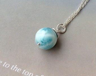 Larimar pendant etsy dominican larimar pendant larimar necklace 12mm larimar nature larimar genuine larimar sterling silver gift for wife blue gemstone aloadofball Gallery