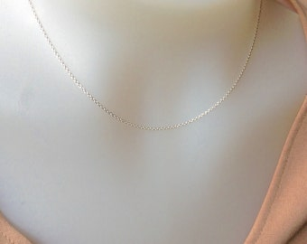Sterling Silver Chain 16 inch, 1.2mm sterling silver necklace , Sterling Silver necklace, 925 silver, delicate chain, DIY Jeweller, everyday