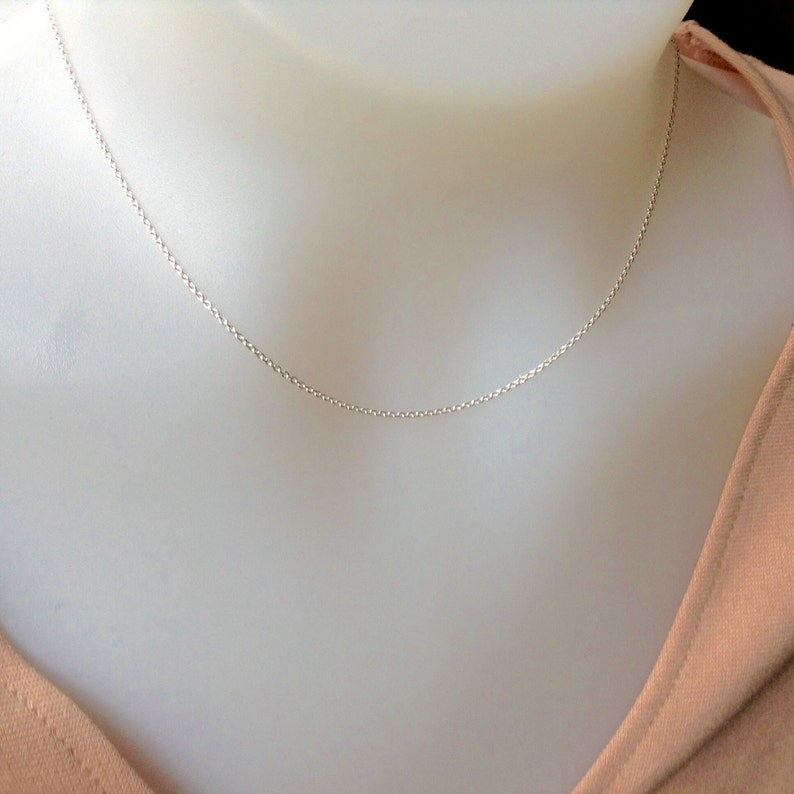 Sterling Silver Chain 16 inch 1.2mm sterling silver necklace image 0