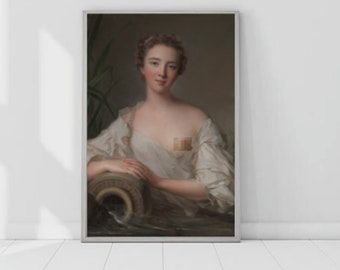 Altered Art Portrait Downloadable Prints - Digital Art Oil Painting   Censored / Ratio - 2:3 (18x24in)