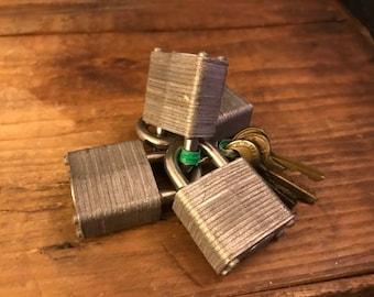 Vintage padlocks with keys