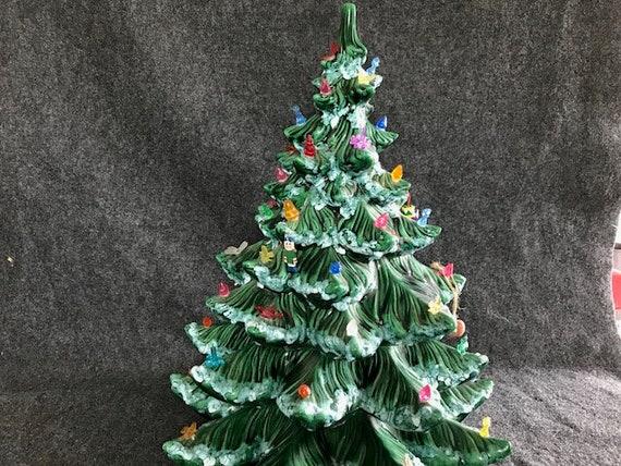 Vintage Ceramic Christmas Tree.Vintage Ceramic Christmas Tree Large