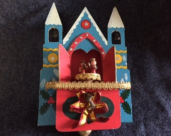 Vintage Japan Christmas rotating music display box