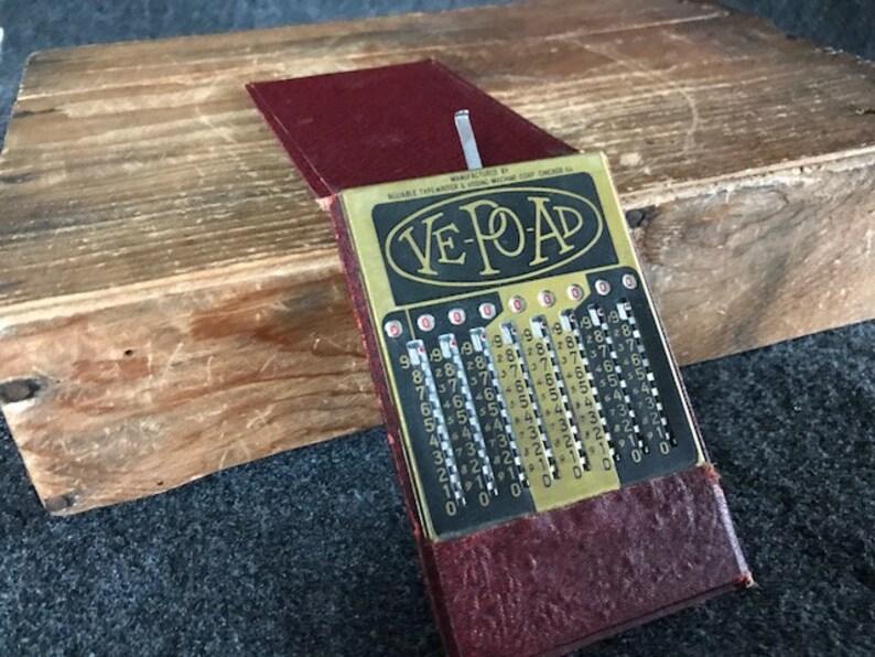 Ve-Po-Ad Reliable Typewriter adding machine Calculator