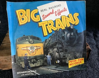 Rare Peter Pan Records Big Trains Sound Effects, 1952