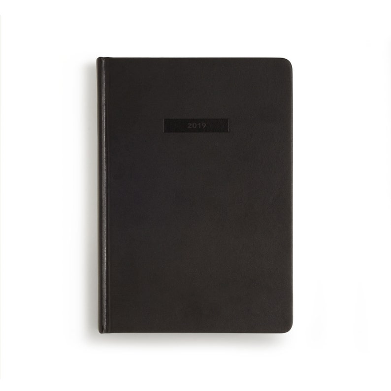 9bd80610d99 2019 Hard Cover Diary A5 HC Black Planner 2019 Weekly