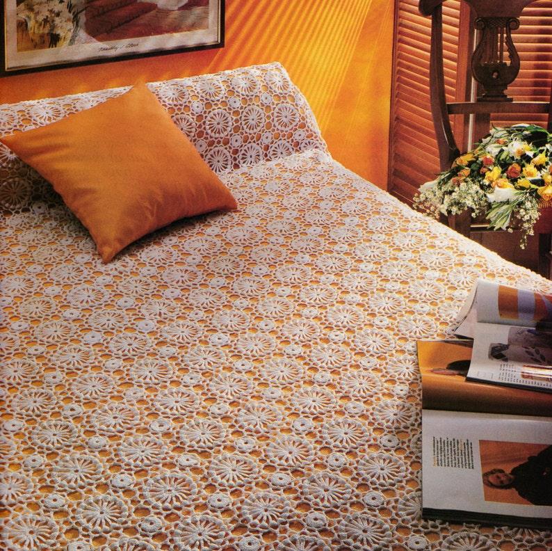 Couvre-lit patchwork crochet patron PDF numé