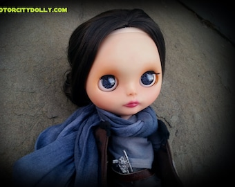 "Jyn Erso Custom OOAK Blythe Doll by Sandra Coe (Custom #34) Star Wars Rogue One Art Doll 12"" Figure"