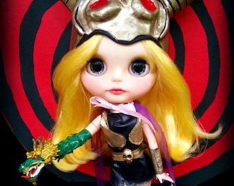 "Princess Dragon Mom Elzebub Custom OOAK Blythe Doll by Sandra Coe (Custom #22) Super Inframan Art Doll 12"" Figure"