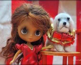 Sophia, a Custom Takara Caribbean Jewel Petite Blythe Doll with Wensleydale Reroot by Sandra Coe for Motor City Dolly
