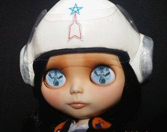 "Akiko Fuji Custom OOAK Ultraman Science Patrol Blythe Doll by Sandra Coe (Custom #17) Art Doll 12"" Figure"