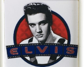 Elvis Presley movie poster Pin Badge #1 - Roustabout Girls Girls Girls Charro Blue Hawaii King Creole Girl Happy - New