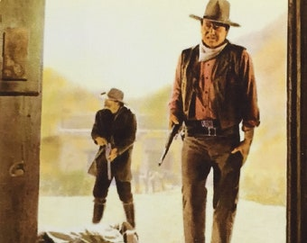 Rio Lobo John Wayne Jorge Rivero Christopher Mitchum movie poster Fridge Magnet & Jumbo Keyring New