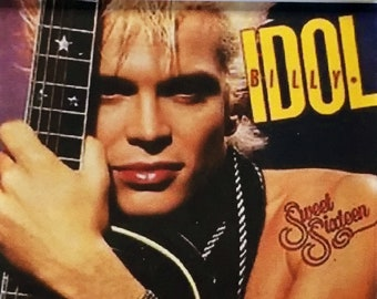 80's Inspired Iconic Music Poster Keyrings - Billy Idol