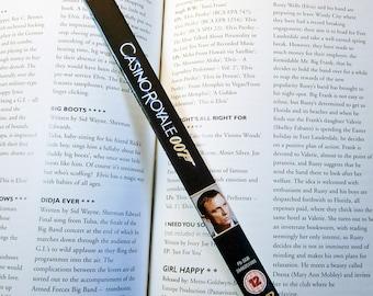 Die Another Day - Skyfall - Casino Royale - James Bond 007 Pierce Brosnan Daniel Craig Eva Green Halle Berry - Recycled DVD bookmark spine