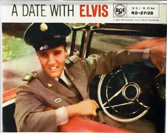Elvis Presley Classic Iconic Album Covers poster Square Keyrings - New A Date With Elvis GI Blues Loving You King Creole Blue Hawaii
